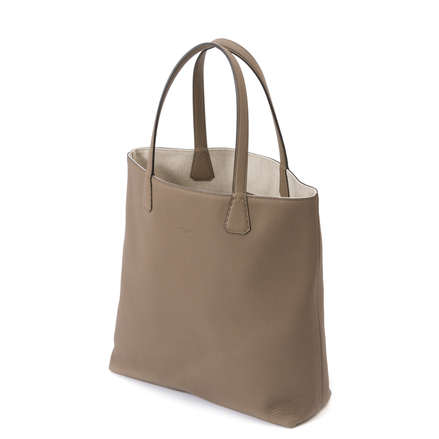 Versatile Verticale Double Face Tote Ver. Leather / Canvas