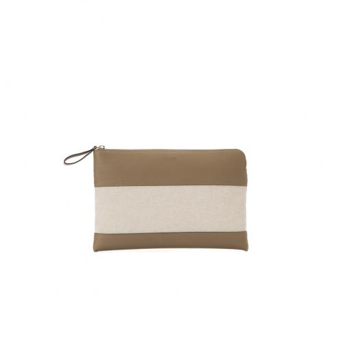 &Arbitrio Medium Clutch Top Zip Odessa / Canvas;
