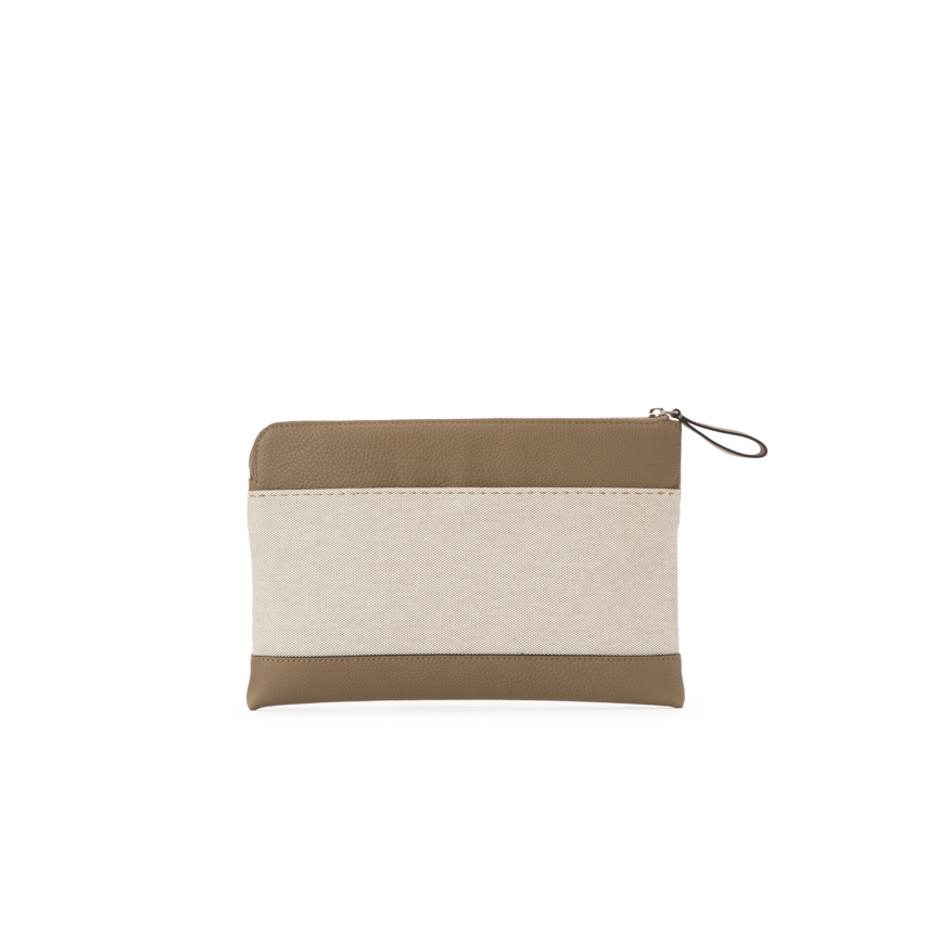 Arbitrio Medium Clutch Top Zip Odessa / Canvas
