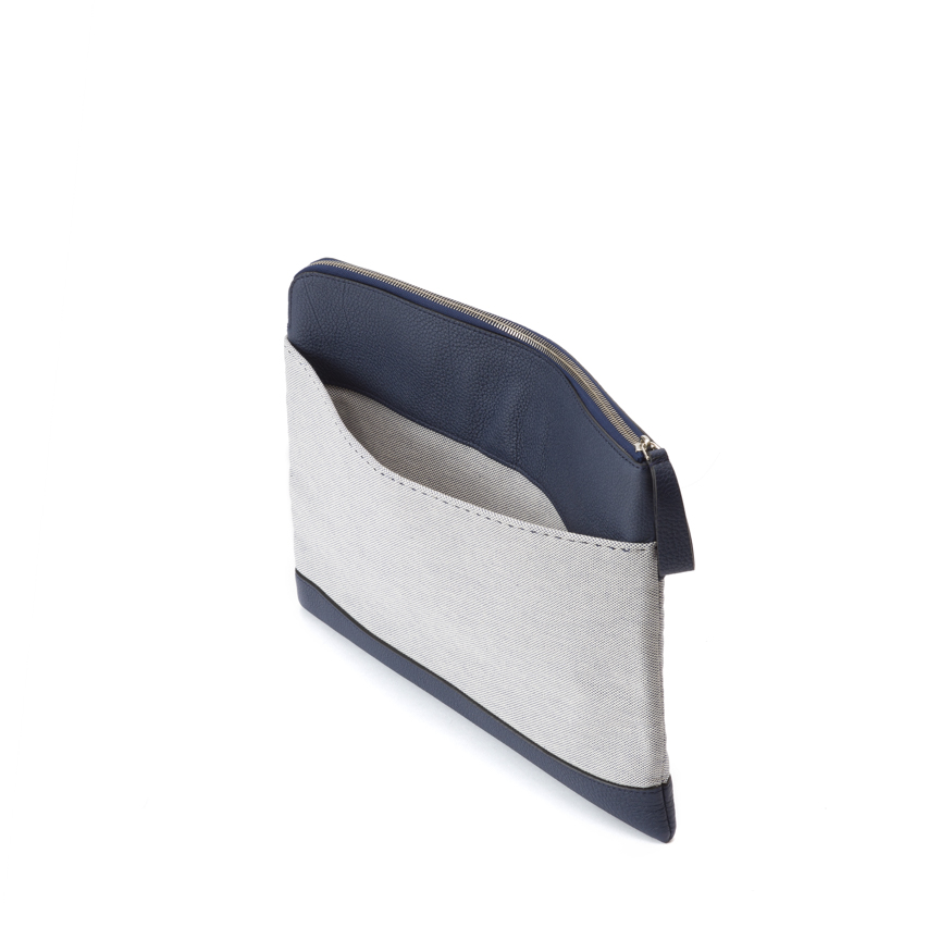 Arbitrio Large Clutch Top Zip Odessa / Canvas