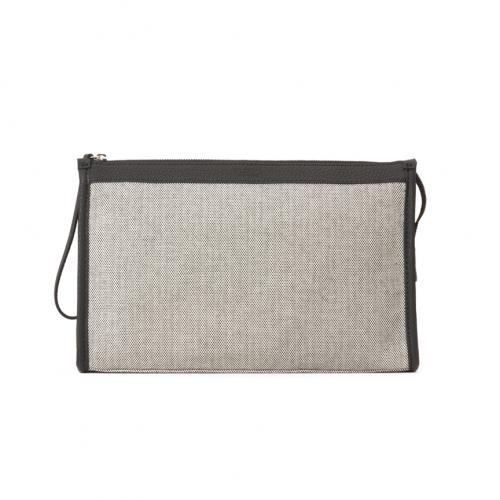 &Leather Canvas Pochette Beauty Case M;