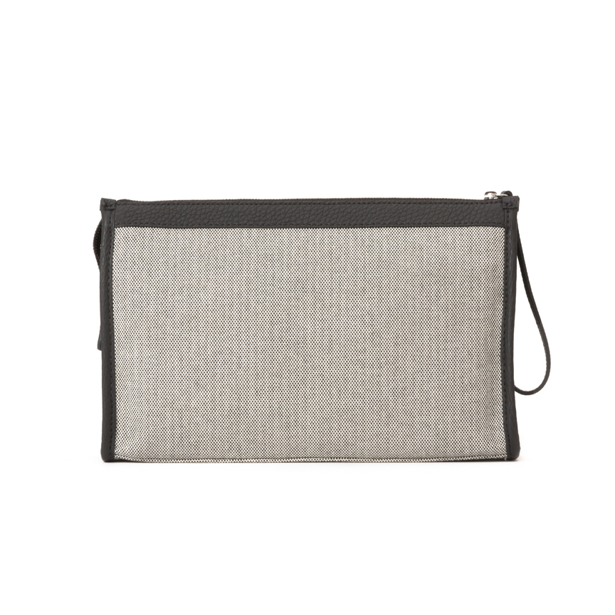 Leather Canvas Pochette Beauty Case M