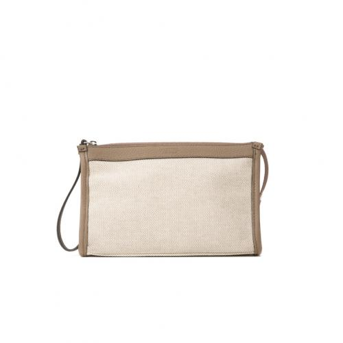 &Leather Canvas Pochette Beauty Case S;