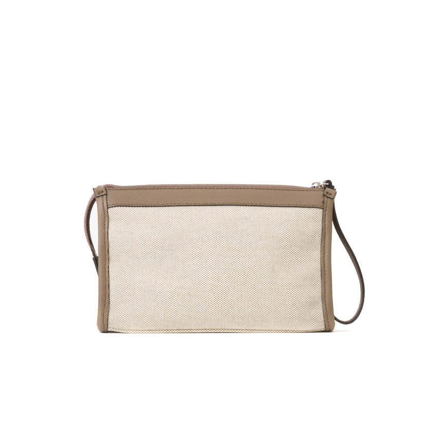 Leather Canvas Pochette Beauty Case S