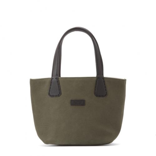 &Versatile Mignon Double Face Tote S Canvas / Canvas Military / Canvas;