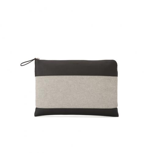 &Arbitrio Large Clutch Top Zip Odessa / Canvas;